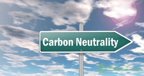 """A street sign that says """"carbon neutrality"""""""