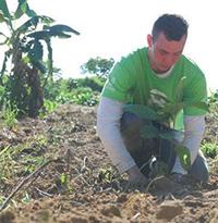 Jon Chambers, co-founder of 8 Bilion Trees plants saplings in Brazil.