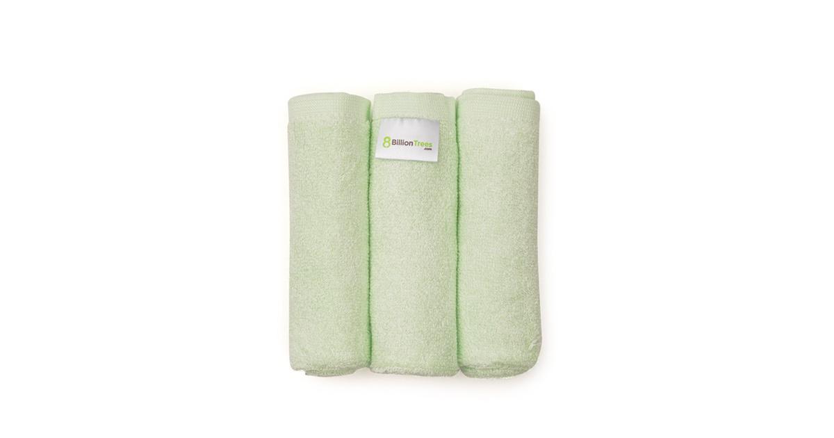 Product image of three 8 Billion Trees bamboo washcloths